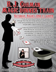RJ Magic dinner train