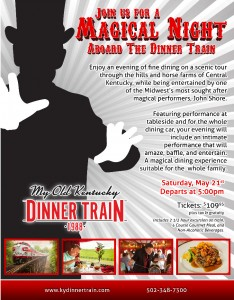 rj corman may dinner train